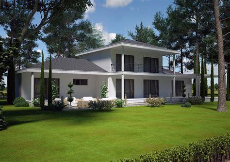 Modèle Maison Contemporaine cuisine villa contemporaine m etage mod 195 168 le pinede salon