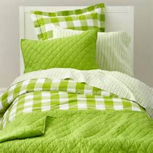 Green Bedspreads Bedding Green Gingham Cotton Bedding