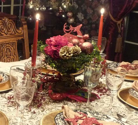 Floral Centerpieces For Dining Room Tables by Beautiful Christmas Centerpiece With Adorable Red And