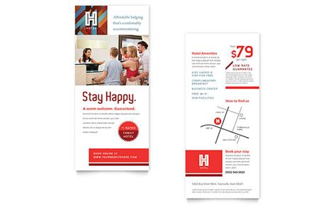 rack card design template hotel rack card template design