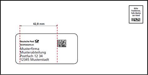 Frankierte Postkarten Drucken by Philaseiten De Deutsche Post Sendungsform Responseplus