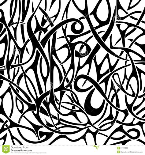 abstract pattern black black and white abstract pattern in tattoo style stock