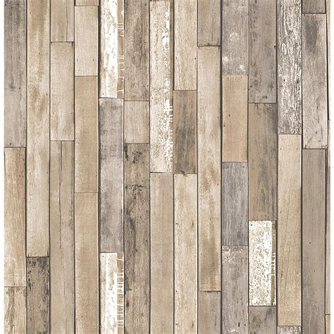 Thin Ceiling Planks by Brewster Barn Board Brown Thin Plank Wallpaper Fd23274