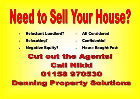 nottingham need to sell your house fast