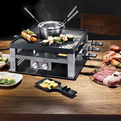 Raclette Grill Mit Fondue by Solis Combi Grill 3 In 1 Design Raclette Tischgrill