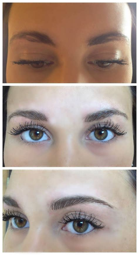 feather eyebrow tattoo feather touch brow at aura cosmetic studio