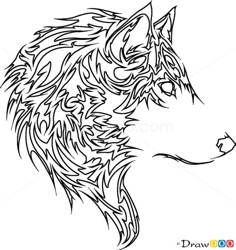 tattoo pictures to draw tribal wolf tattoo how to draw tribal tattoos