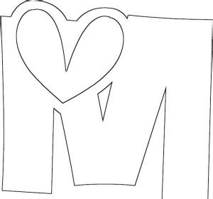 U Of M Coloring Pages by Letter M Coloring Pages For Preschool And Kindergarten
