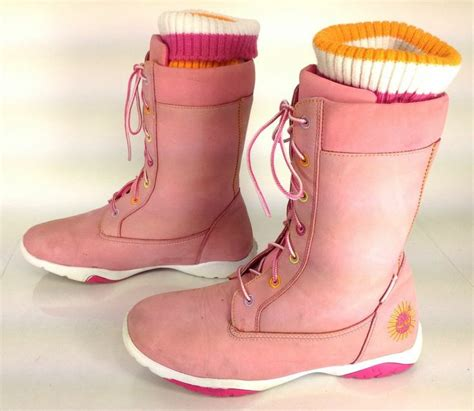 S Socks 3in1 0 6m 1 s timberland pink leather lace up fashion boots w top sock us