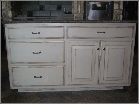 diy distressed white kitchen cabinets home design ideas