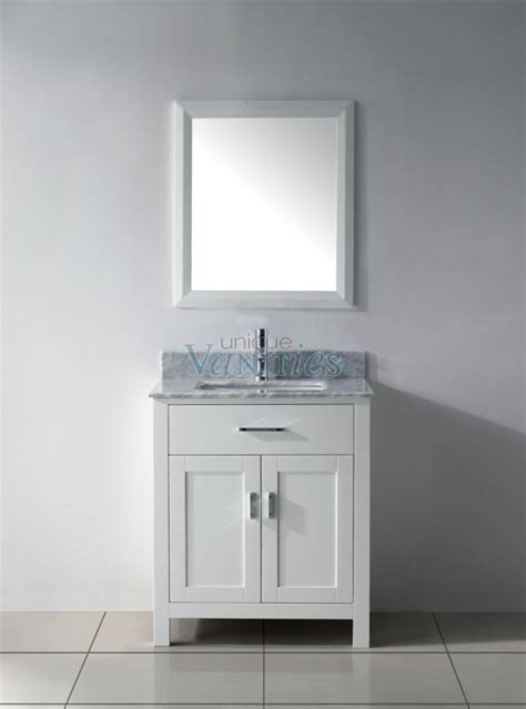 30 Inch White Bathroom Vanity 30 Inch Single Sink Bathroom Vanity In White Uvabxkawh30