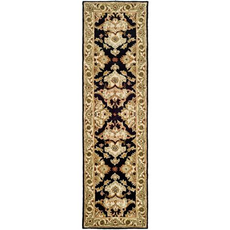 rug runners 2 x 14 safavieh heritage espresso ivory 2 ft 3 in x 14 ft runner hg817b 214 the home depot