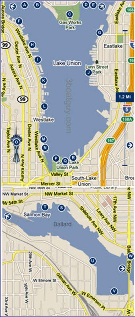 seattle map lake union seattle boating lake washington lake union puget sound