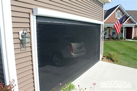 Retractable Screen Door For Garage Retractable Garage Screen For Single And Golf Cart Garages These Screens Can Be Manual