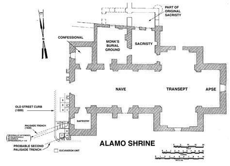 floor plan of the alamo the alamo mission san antonio de valero mission initiative