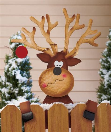 christmas decorations for fences reindeer fence decorations wikii