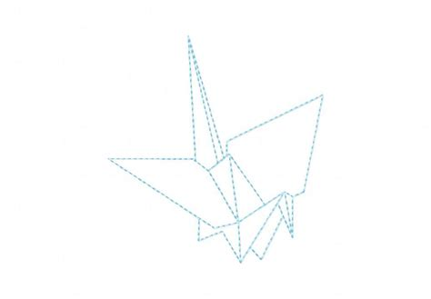 Designs Origami 4 - origami crane machine embroidery design daily embroidery