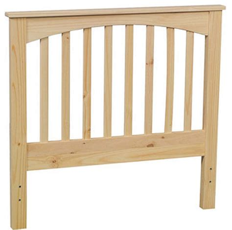 pine slat headboard bare woods furniture real wood