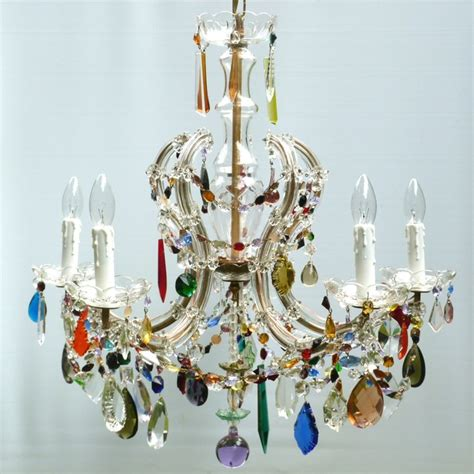 multi coloured glass chandelier multi coloured chandelier chandeliers by the