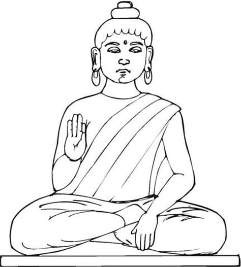buddha coloring easy coloring pages
