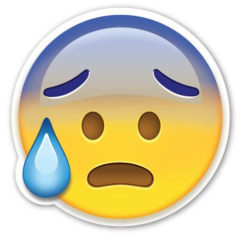imagenes de emoji asustado face with open mouth and cold sweat