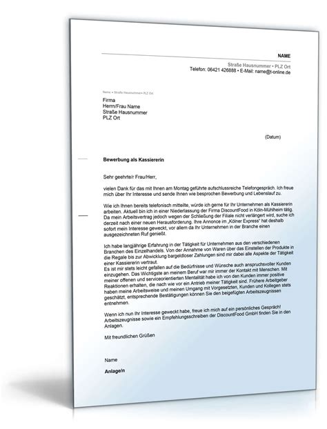 Bewerbungsschreiben Kassiererin bewerbungsschreiben muster bewerbungsschreiben kassiererin