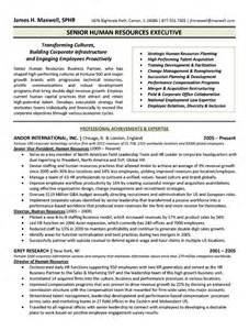 senior human resource executive resume sample resumes design