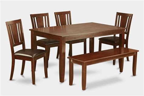 6 kitchen table with bench table and 4 chairs for