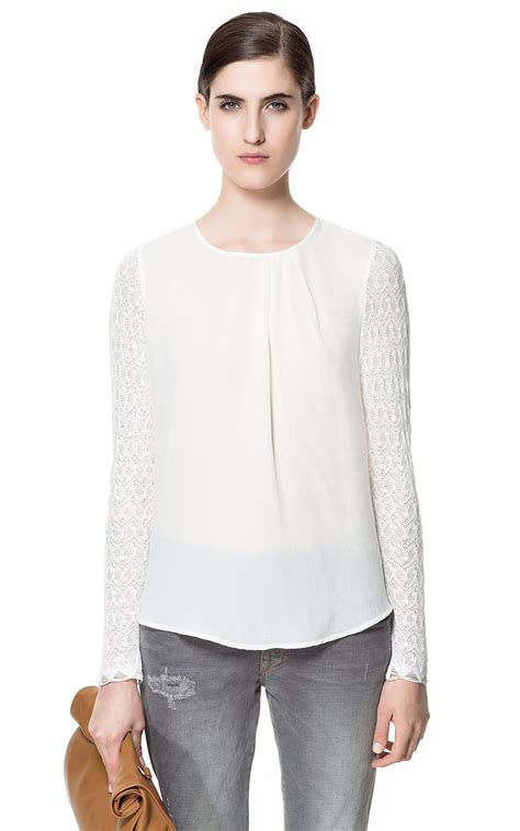 Zara White Blouse Diskon 14 march 2013 haute is where the is