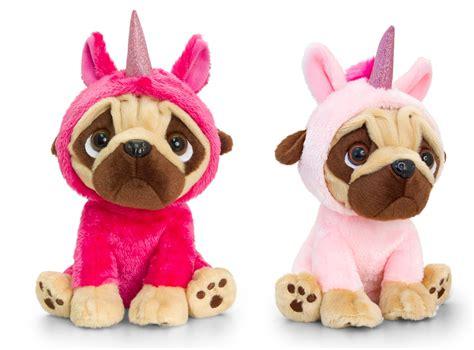 pug cuddly toys keel toys pugsley 20cm unicorn pug 2 designs cuddly soft teddy sf1227 163 12