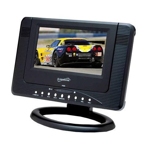 Tv Portable portable lcd tv supersonic inc sc 491 7 quot portable rechargeable lcd tv dvd with usb sd inputs