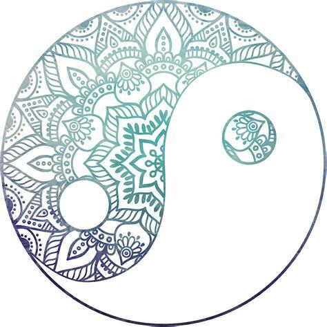 yin yang mandala coloring pages mandala ying yang pinteres