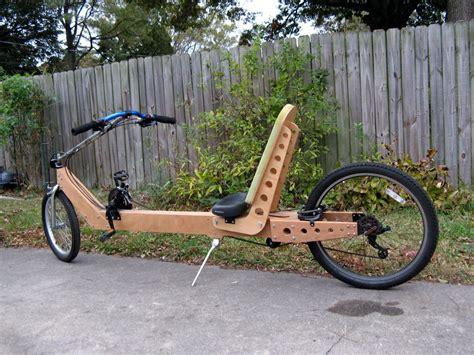 plywood frame recumbent wood bike bicycle design
