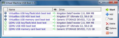 how to boot a usb key in virtualbox