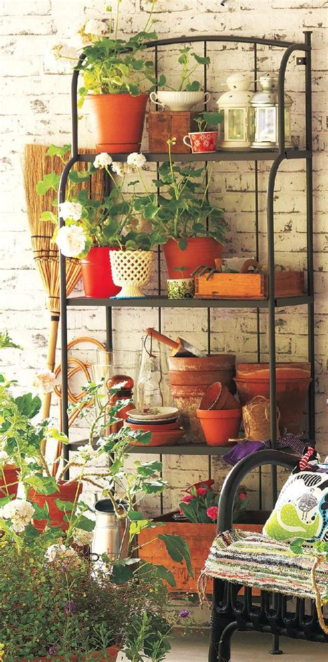 Bakers Rack For Plants by Home Garden Gardens Bakers Rack And Plants