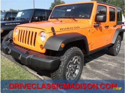 Orange Jeep Rubicon 2013 Crush Orange Jeep Wrangler Unlimited Rubicon 4x4