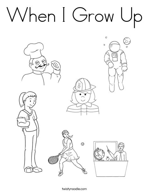 coloring pages of different jobs pictures of occupations coloring home