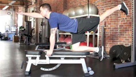 superman bench press back exercises using a bench