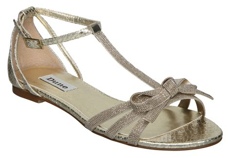 chain flat sandals dune kainty chain bow tbar flat sandal in beige chagne