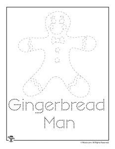 Gingerbread Letter Tracing