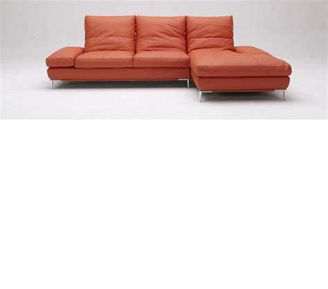 orange sectional sofa dreamfurniture com dahlia 1307 orange sectional sofa set