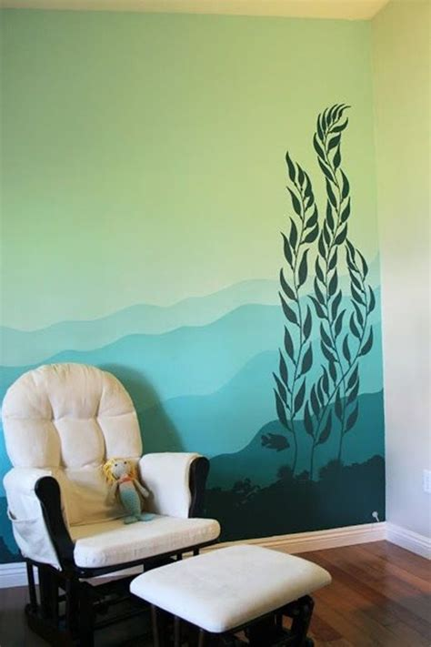 easy wall painting designs wall decor forest mural