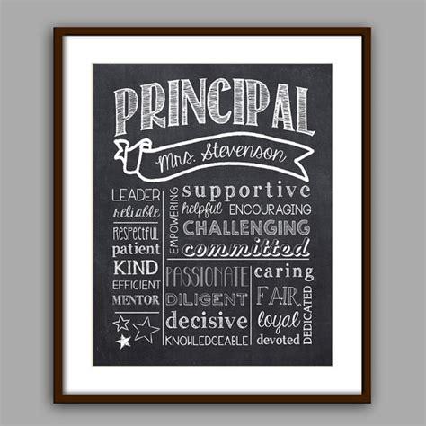 principal gift the best principal chalkboard