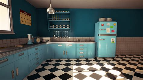 retro kitchen customizable retro kitchen by nguyen cong in