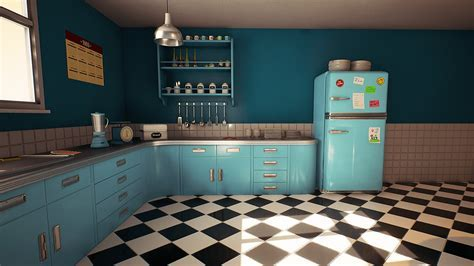 Customizable Retro Kitchen by Nguyen Cong Thai in