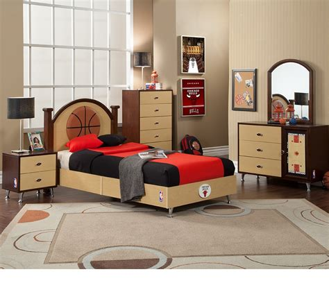 basketball bed set dreamfurniture com nba basketball chicago bulls bedroom in a box