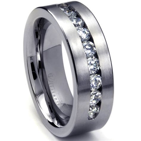 91 mens wedding bands titanium vs tungsten large