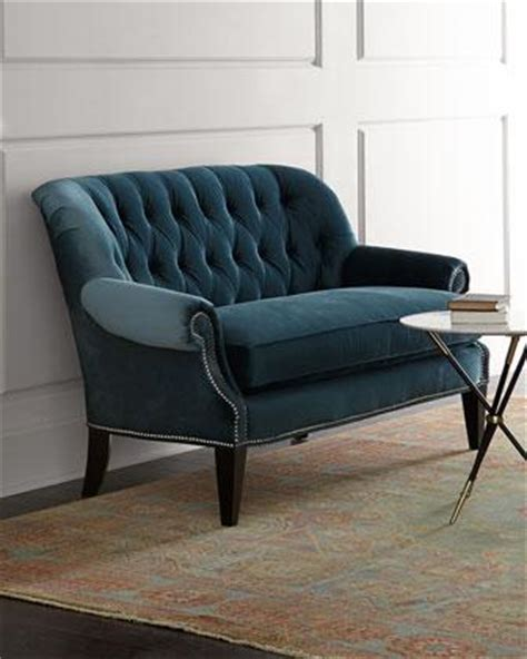 horchow settee monica tufted settee i horchow