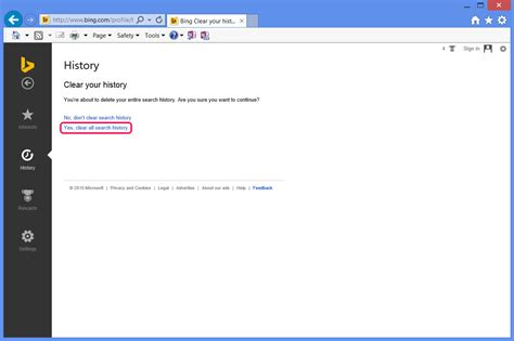 browser history delete bing how to delete bing history techwalla com