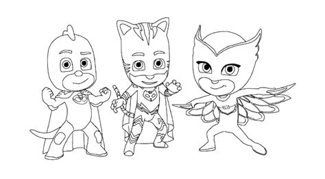 pj masks coloring pages black and white pj masks coloring pages to download and print for free